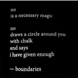Boundaries 101: Meme about NO being necessary.
