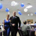 Erica Traffas and Wayne Graham entering the reception