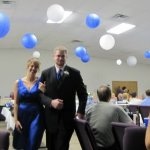 Erica Traffas and Wayne Graham entering the reception