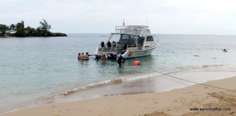 The dive boat
