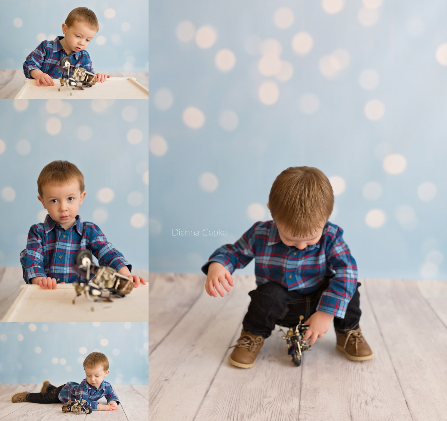 2 year old motorcycle theme photo session leola pa photographer