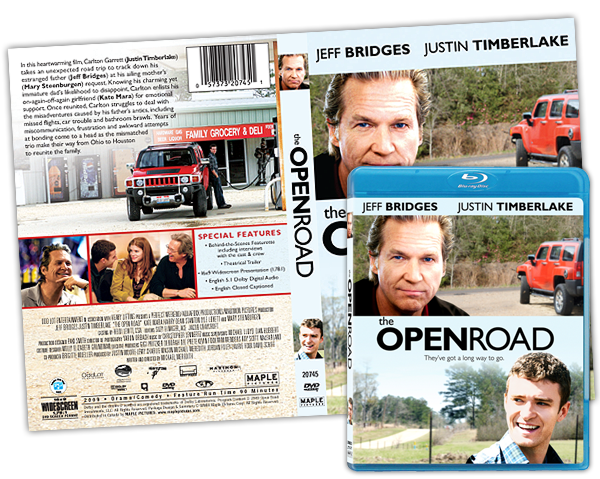 Keyart for home entertainment: The Open Road