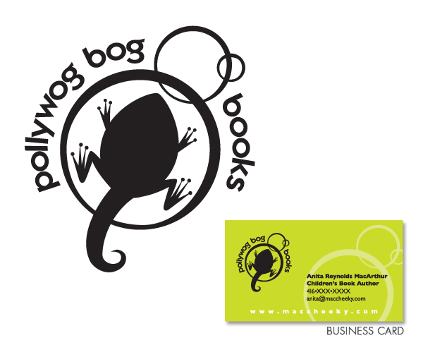 Pollywog Bog Books logo design