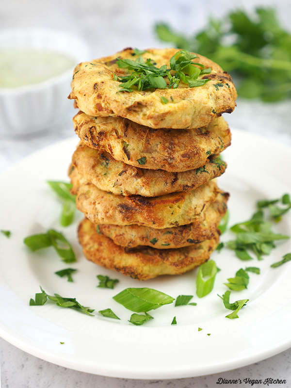 Vegan Colcannon Cakes stacked