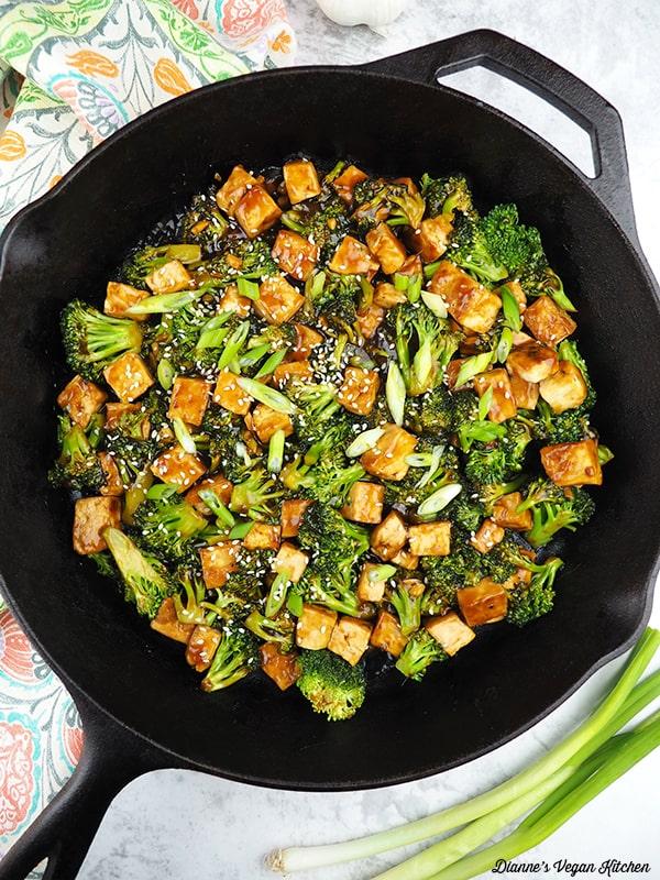 Tofu Teriyaki Stir-Fry in pan