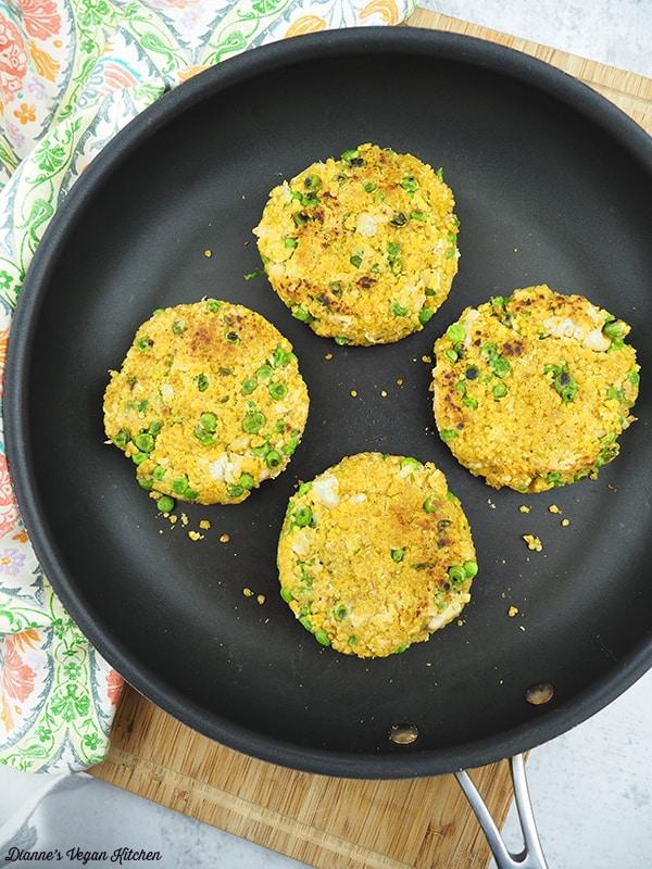 Veggie Burgers in Pan