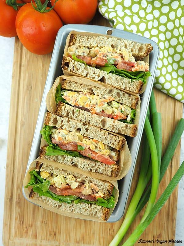 sandwiches in tin