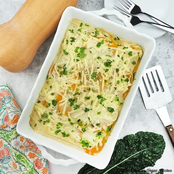 Vegan Butternut Squash Lasagna square