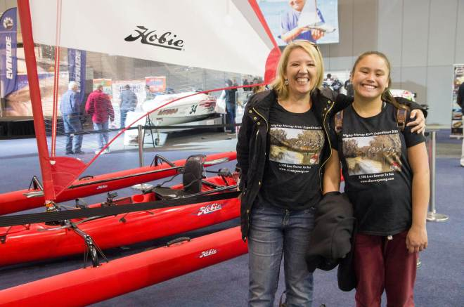 Melbourne Boat Show 2015 - with Murray River Source to Sea t-shirt