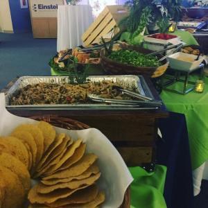 Gourmet wedding buffet