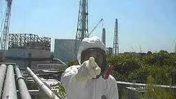 Fukushima worker on camera