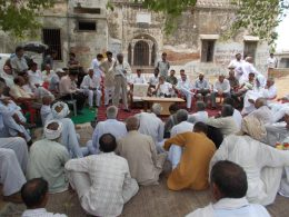 Gorakhpur village meeting