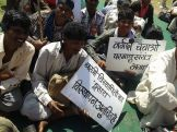 Chutka people protest in Bhopal, March 3, 2014