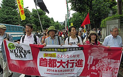 "In Pictures: Massive ""No Nukes Day"" Demonstration in Tokyo- 28 June 2014"