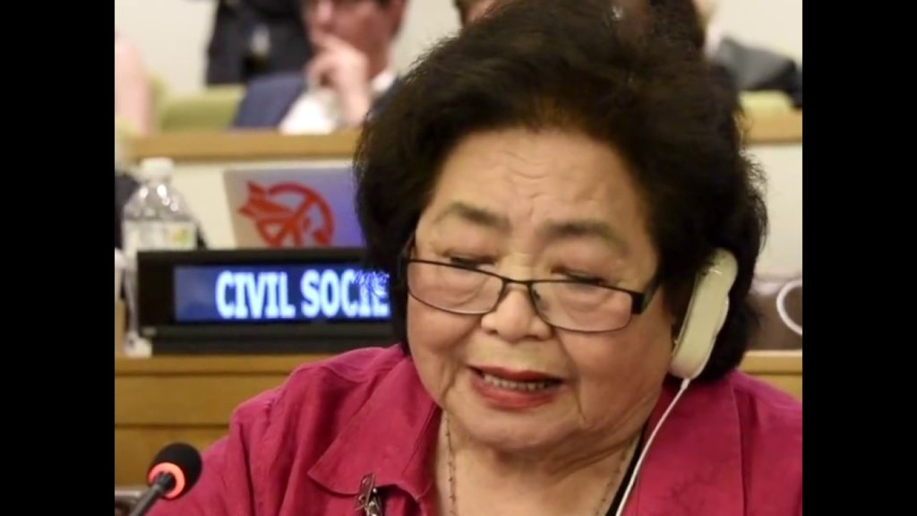 Watch: Hiroshima victim Setsuko Thurlow's closing statement at the #NuclearBan conference
