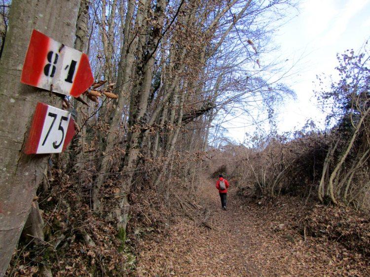 sentiero san bernardino
