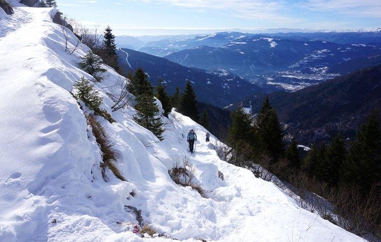 Trekking al Rifugio Dal Piaz in inverno