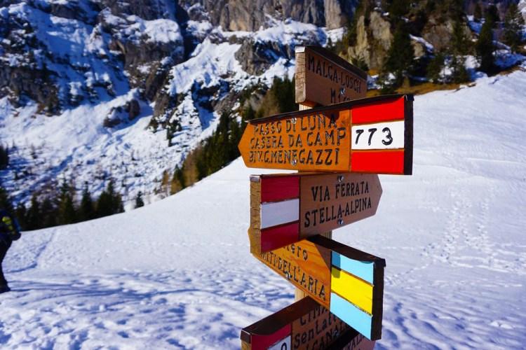 trekking al rifugio Scarpa in inverno
