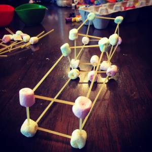 montessori, sensory play, learn through play, busy bags, construction, building, marshmallow
