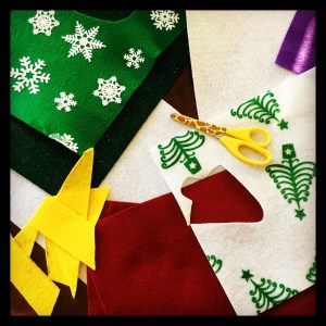 felt, craft, Christmas, tree, holiday