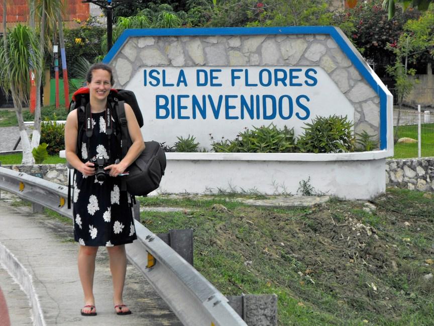 Isla de Flores sign Flores Guatemala