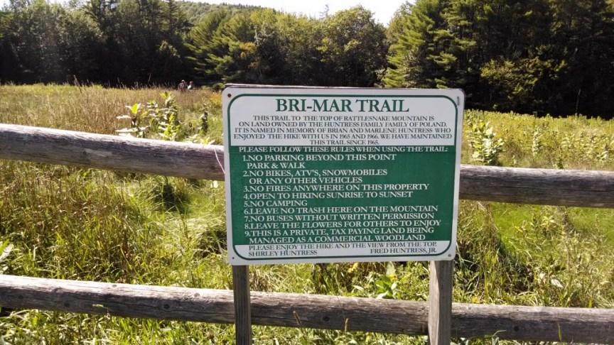 Bri-Mar Trail sign