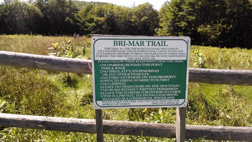 Bri-Mar Trail sign