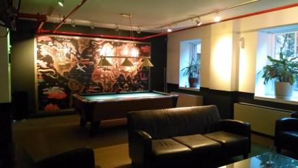 HI NYC Hostel game room
