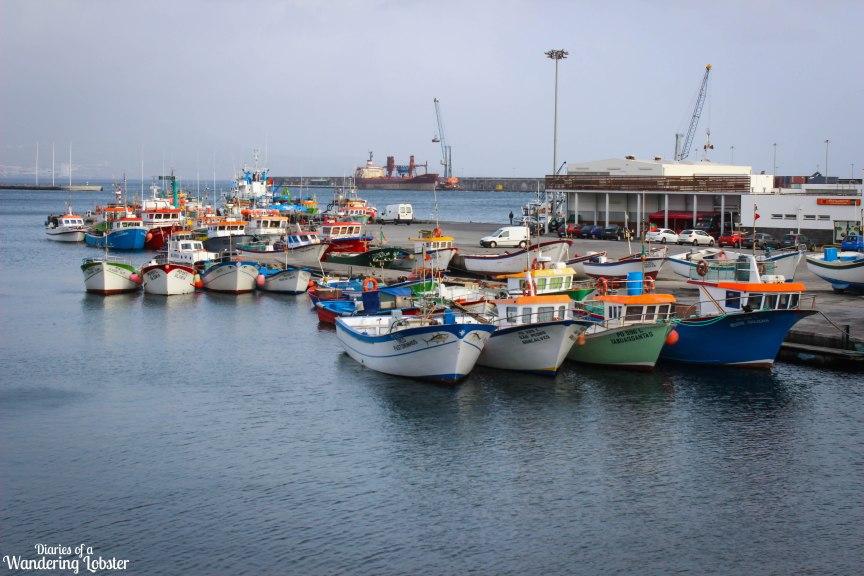 Ponta Delgada fishing boats Azores