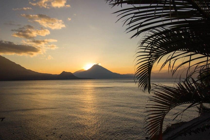 Lake Atitlan sunset Guatemala