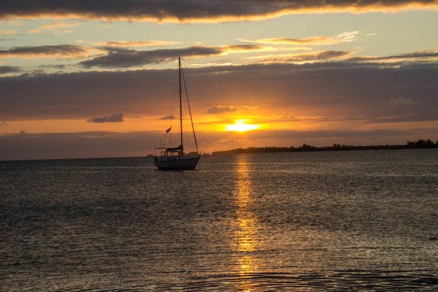 Utila Honduras sunset