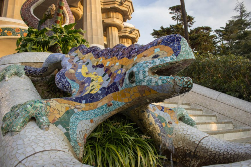 Park Guell lizard Barcelona Spain photos of Spain