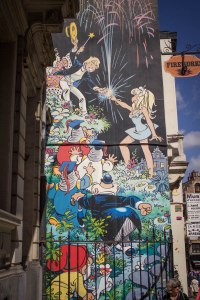 [img] The Adventures of TinTin street art Brussels