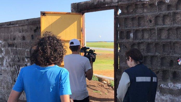 Esta es la puerta por donde se puede acceder a la playa en sector Autoclub.