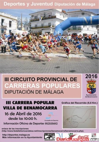 Cartel III Carrera Popular Villa de Benamocarra 16 de   abril 2016 (Large)