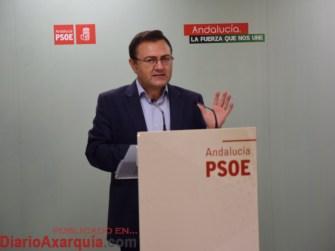El secretario general del PSOE de Málaga, Miguel Ángel Heredia.