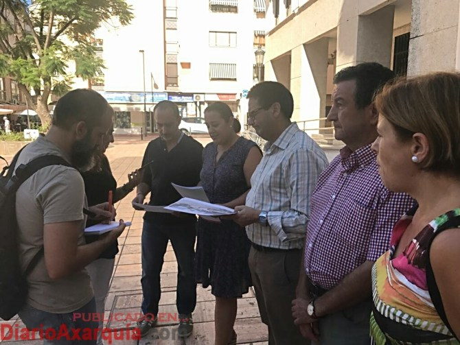 Grupo Municipal Durante la rueda de prensa