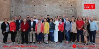 Equipo que acompaña a Moreno Ferrer en su candidatura a la Secretaría General de la agrupación de Vélez-Málaga.