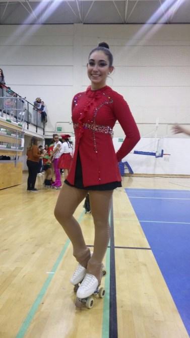 Natalia Baldizzone . Su palmarés deportivo es excepcional. Es una de las mejores patinadoras del circuito europeo