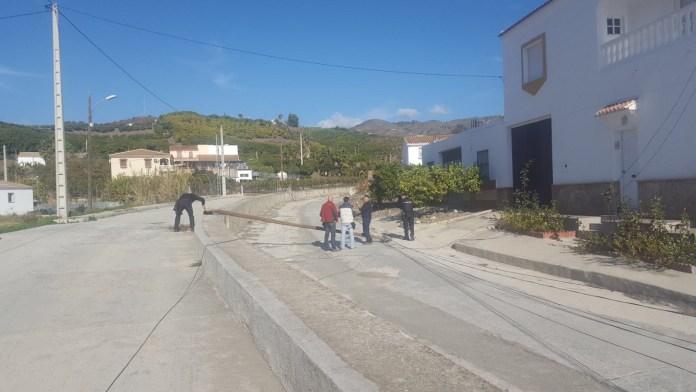 El accidente laboral ha ocurrido en Triana. Imagen: Gabinete Prensa del Ayuntamiento de Vélez-Málaga.