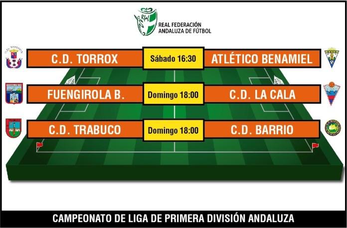Barrio y Torrox encaran la jornada de Primera Andaluza con duelos complicados