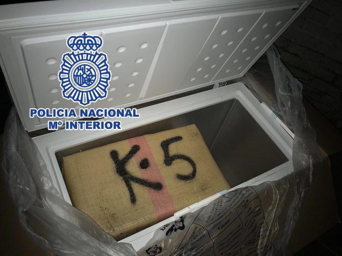 La Policía Nacional desarticula en Fuengirola una organización criminal que pretendía enviar casi 10 toneladas de hachís a Libia