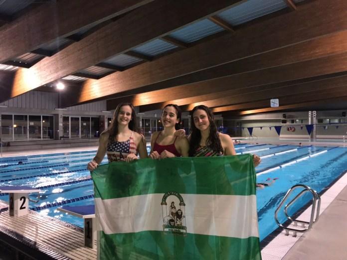 Tres nadadoras del Club Natación Axarquía participarán en el Campeonato de España