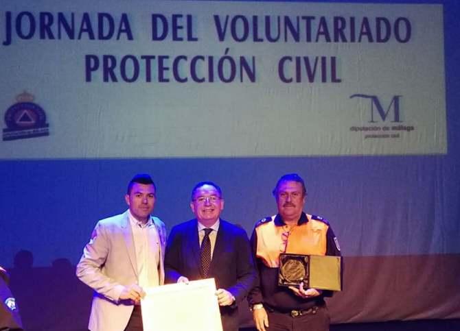 El equipo de Protección Civil de Nerja es reconocido por su gran labor en 2017