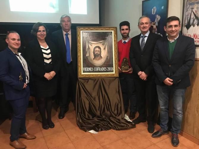 Presentación del cartel de los Viernes Cofrades de la Peña la Troska, un magnífico óleo del artista veleño Manuel Lorente Vico.
