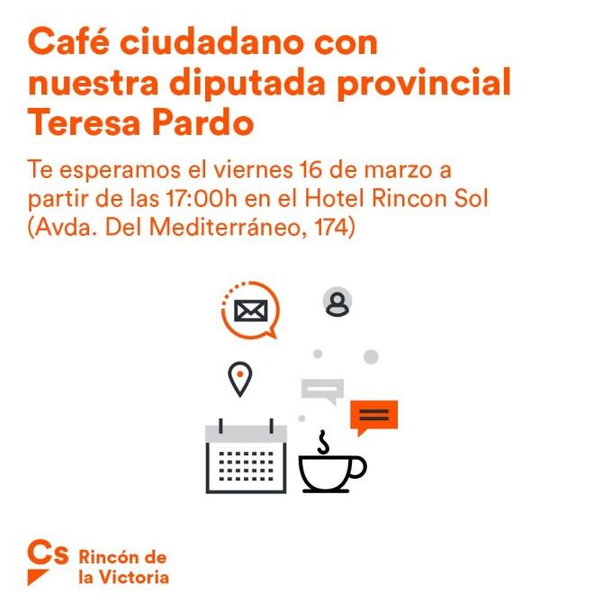 La diputada deCiudadanosTeresa Pardo visita Rincón de La Victoria