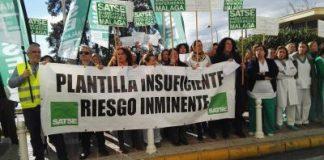 Imagen de archivo de otra de las protestas de las Enfermeras de las Unidades de Hospitalización Quirúrgica del Hospital Clínico.