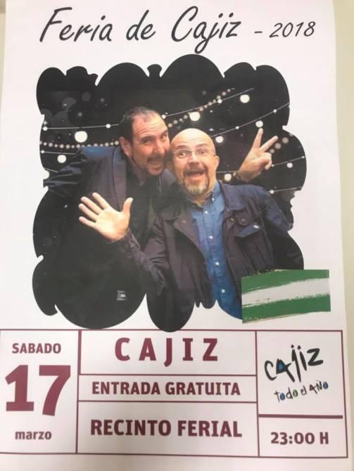 Sergio Contreras actúa este sábado en Cajiz