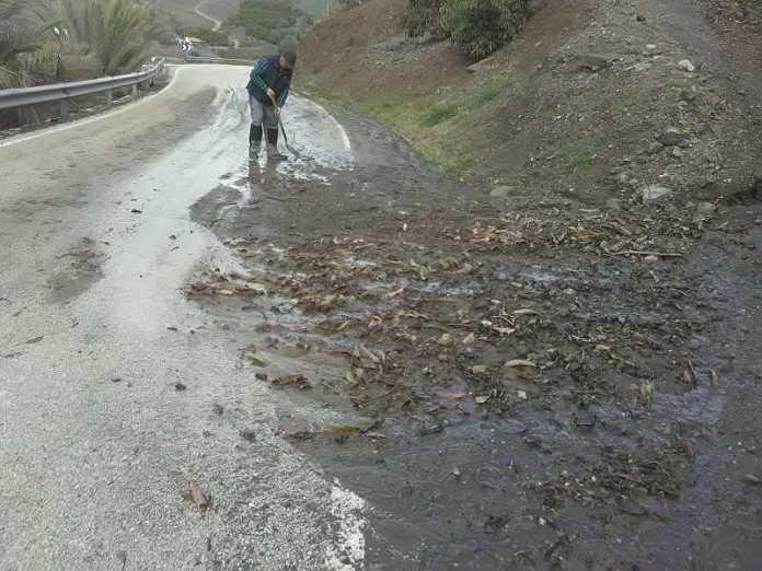 La provincia de Málaga alcanza las 191 incidencias registradas por el 112 por el temporal de lluvia y viento