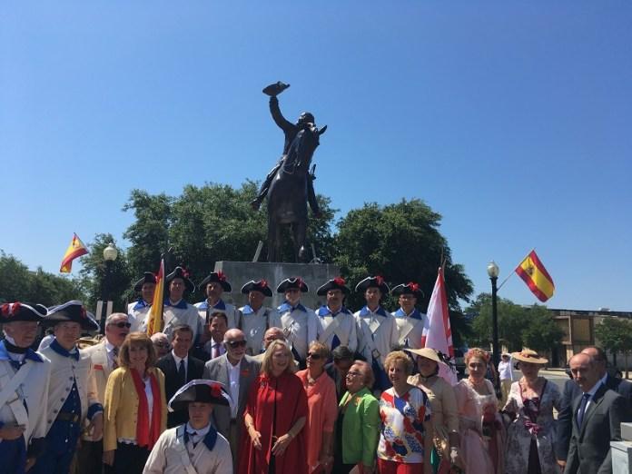 La ciudad norteamericana de Pensacola perpetúa su agradecimiento a Bernardo de Gálvez con una estatua ecuestre